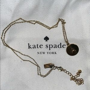 "Kate Spade ""A"" necklace"